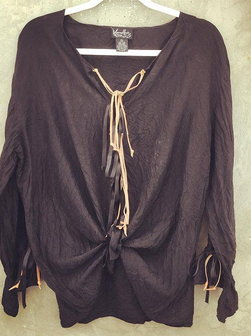 Black Silk Upcycled Tunic