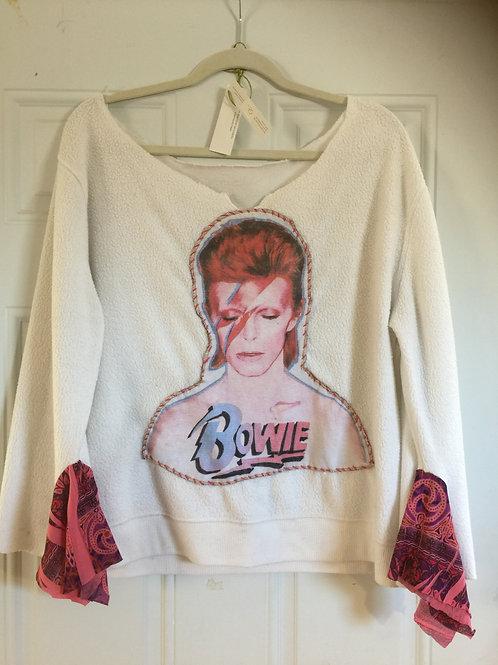 David Bowie Handpatched Sweatshirt
