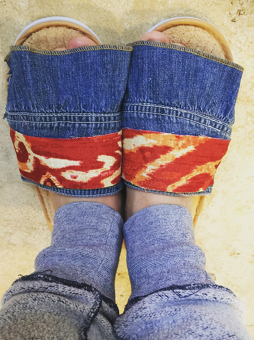 Denim Upcycled Slippers