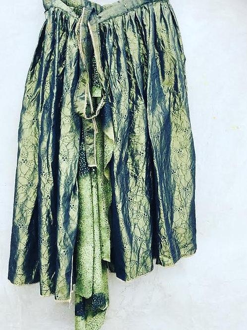 Moss Green Irridescent Taffeta Skirt