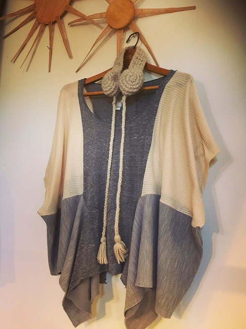 Cotton Thermal Poncho Top