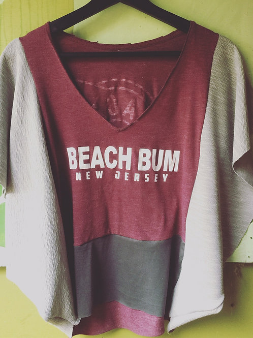 Upcycled Beach Bum Poncho Tee