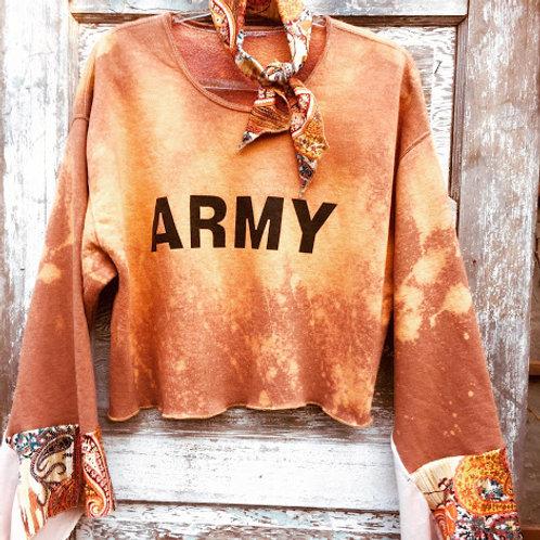 Army Cropped Sweatshirt