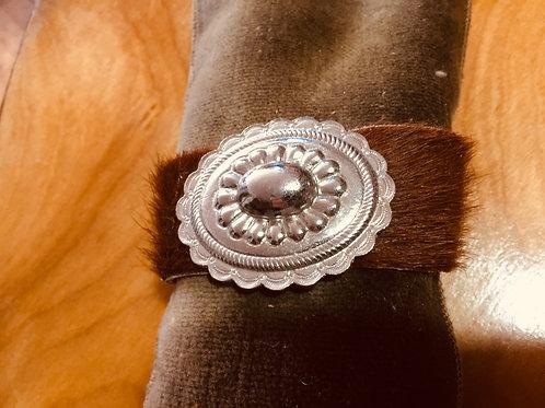 Calfskin Cuff with Belt Buckle inset