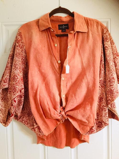 Upcycled Linen Poncho Shirt