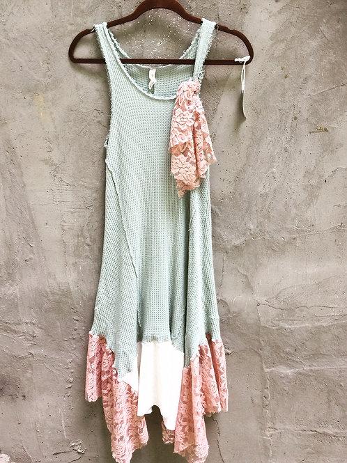 Cotton Thermal Tank Dress