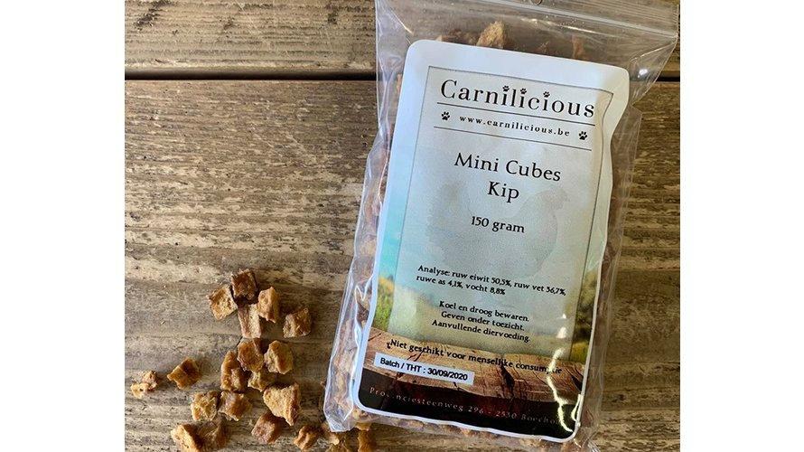 Carnilicious Mini Cubes Kip 150gr