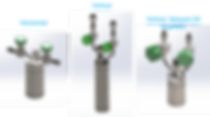Stock cylinders horizontal - vertical - splayed valve options