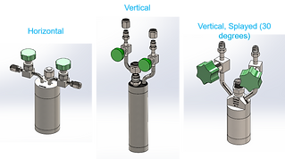 Stock cylinders horizontal - vertical - splayed valve options