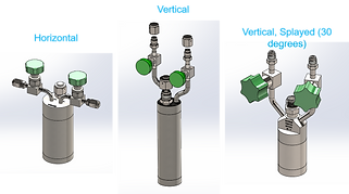 stock cylinders with various valves, genders, glands and features 25cc to 6000cc