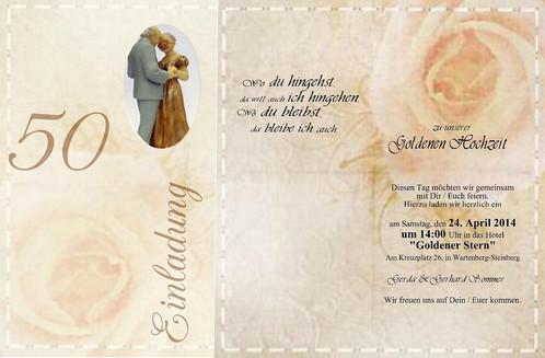 Einladung Goldenen Hochzeit | Einladung Goldene Hochzeit