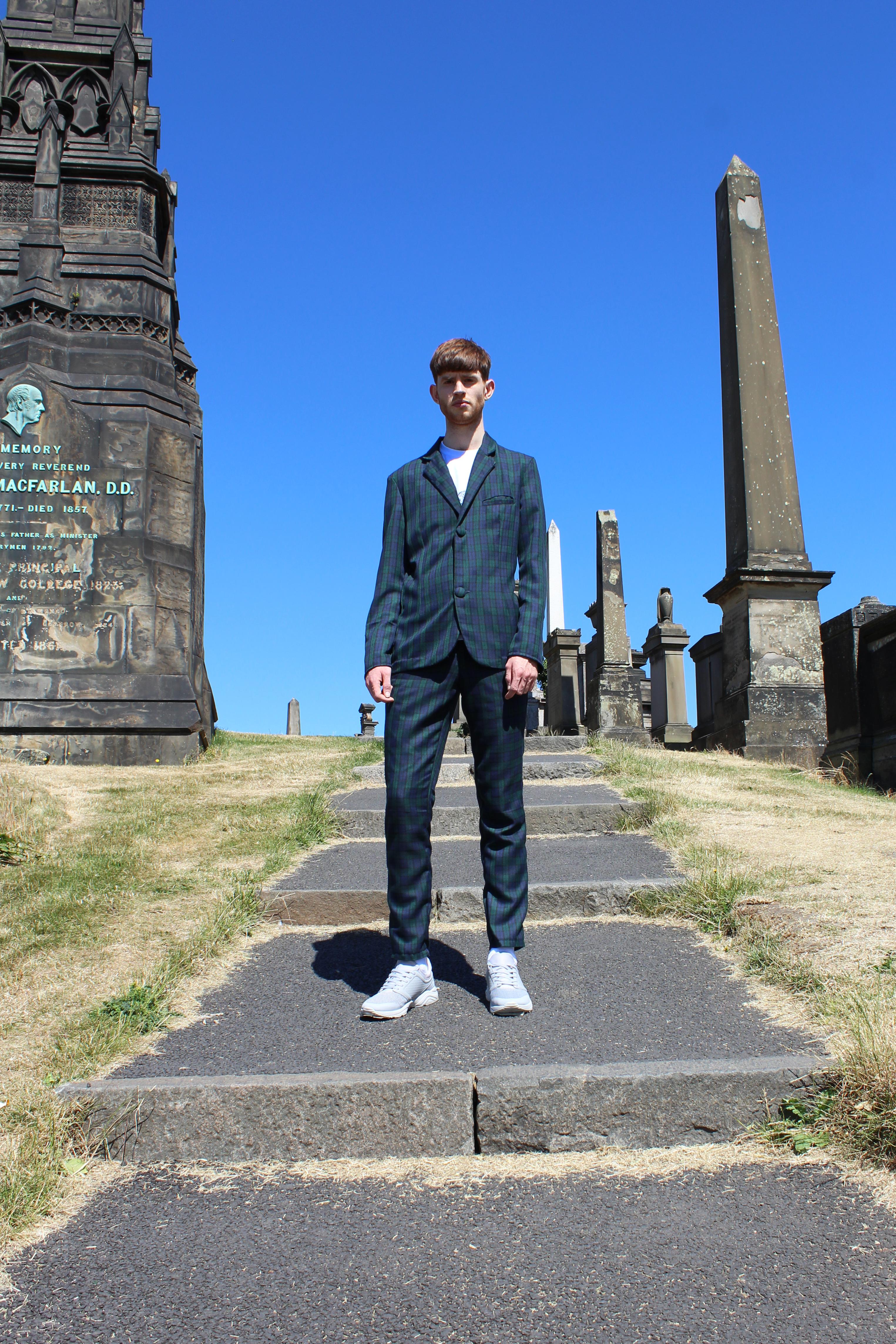 Menswear SS19 tartan suit