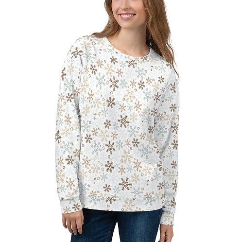 "Unisex Sweatshirt ""Snowflakes"""