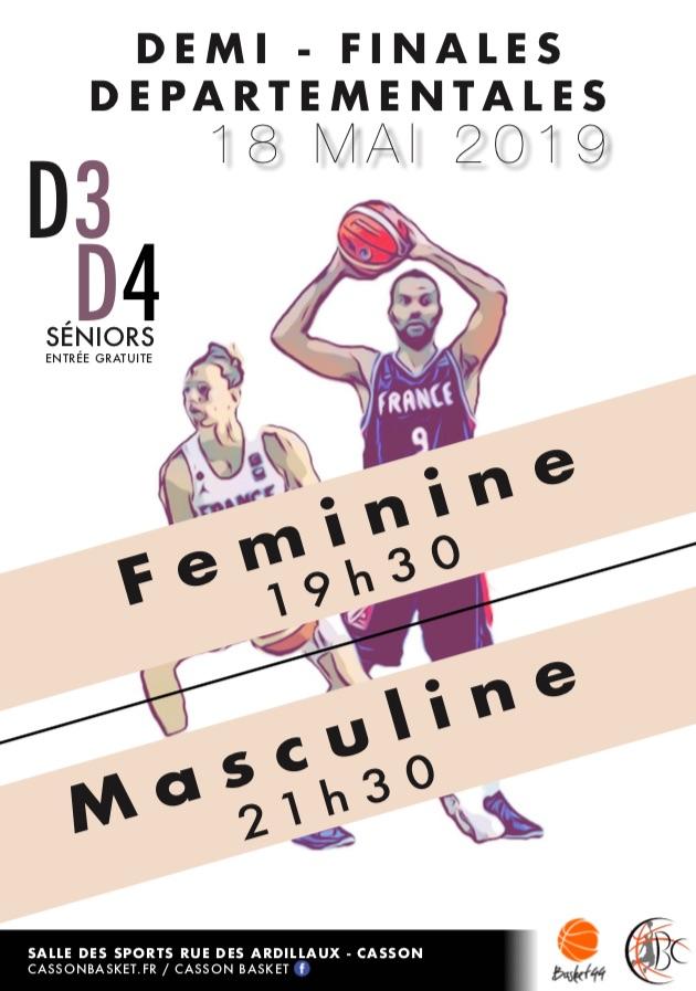 Demi-Finales départementales D3-D4