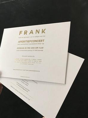 Uitnodiging (gouden bedrukking)