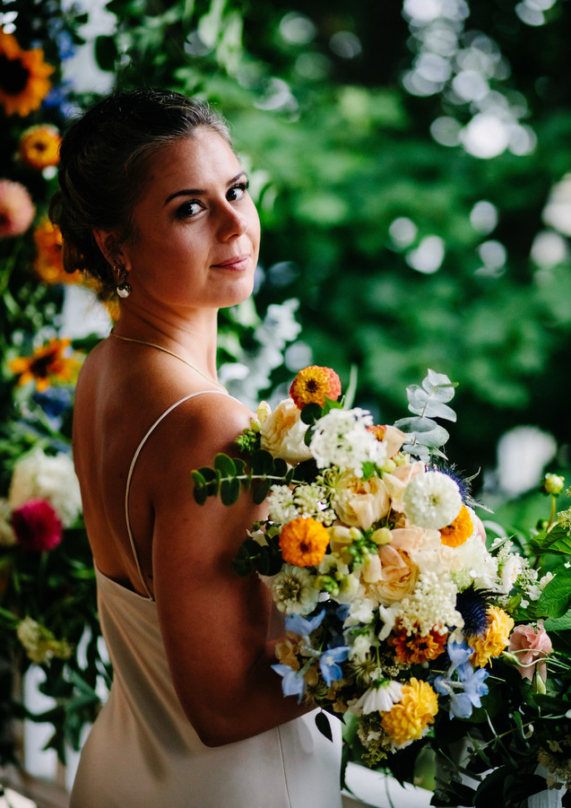 Floral Focused Wedding Portraits