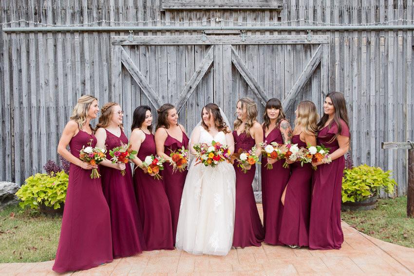Seasonal Autumn Bridesmaids