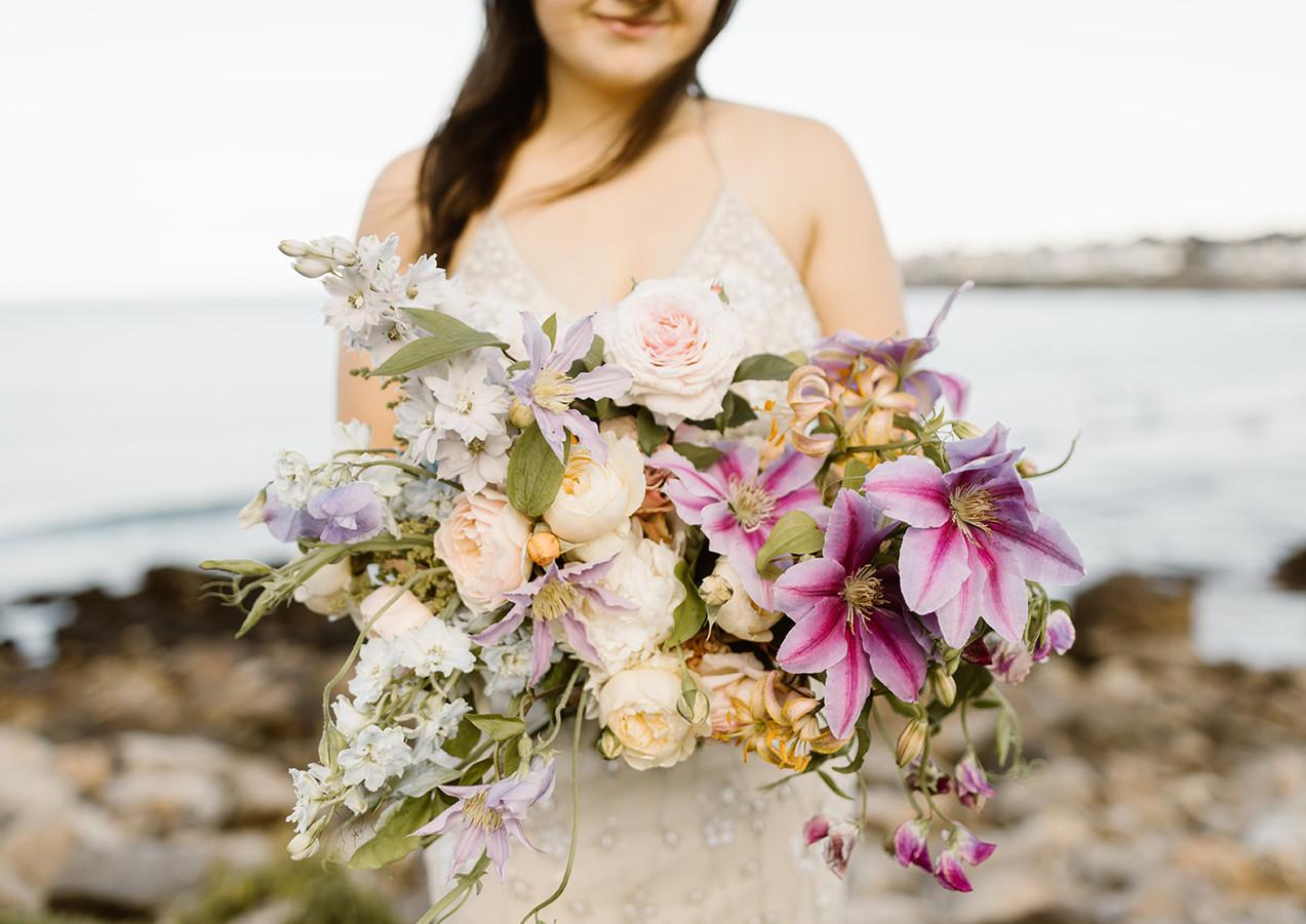 Lush Summer Solstice Wedding Bouquet