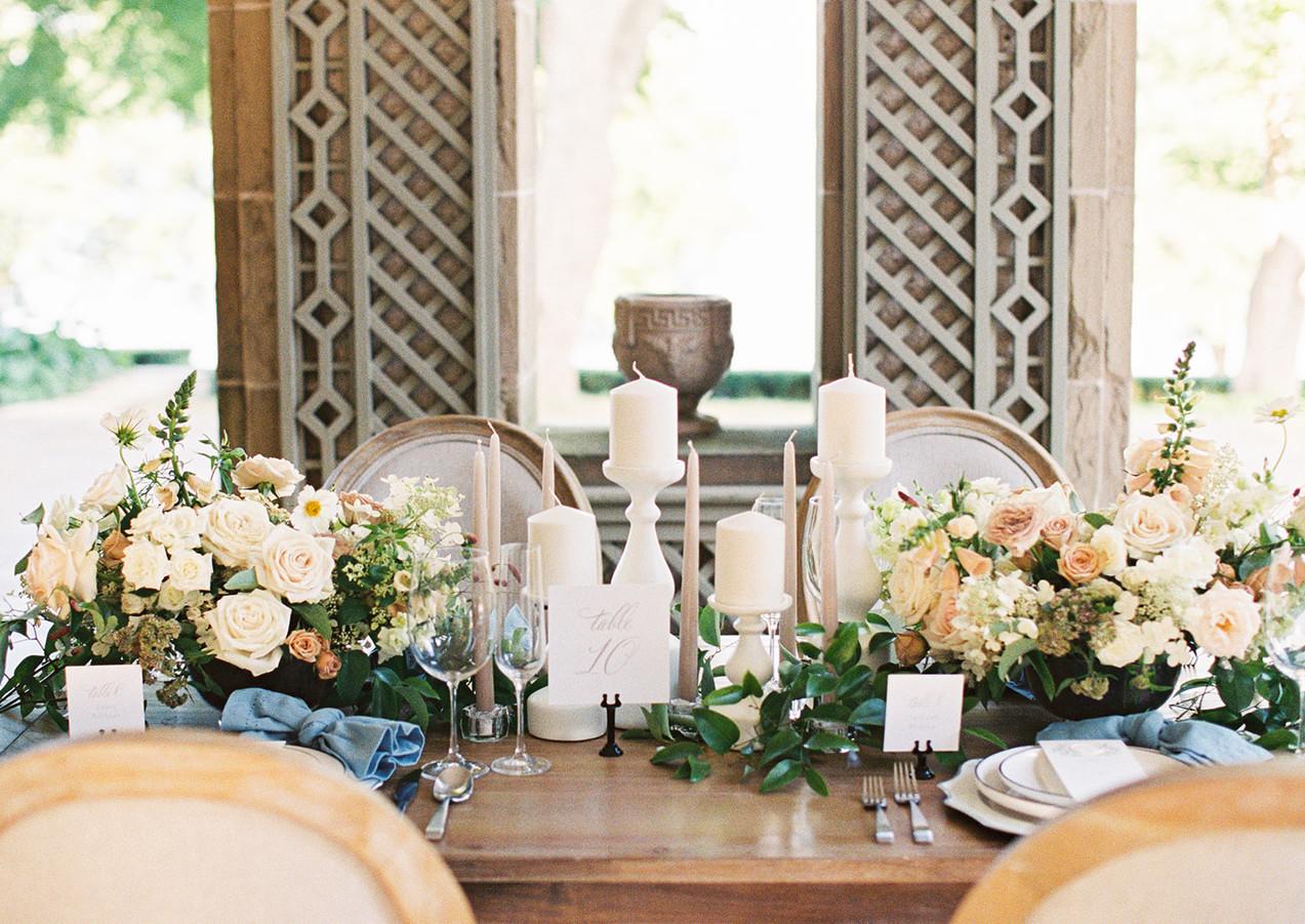 Summer Wedding Table at Glen Manor House