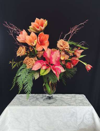 Holiday Florals Statement Arrangement