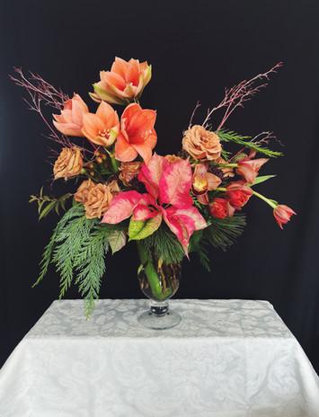 Holiday Florals Statement Arrangement