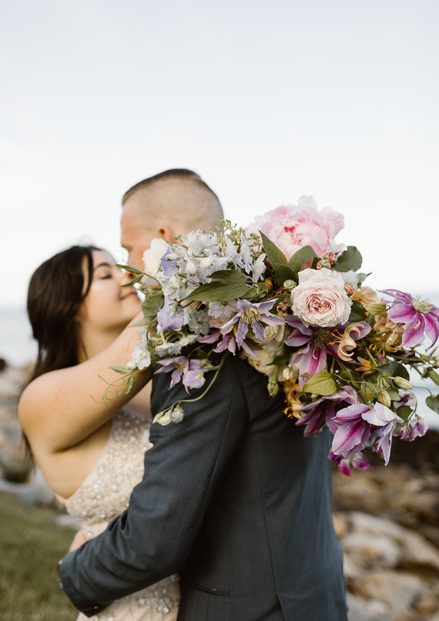 Lush Seasonal Bridal Bouquet