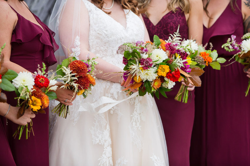 Colorful Fall Wedding Floral Bouquets
