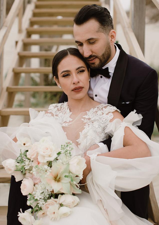 Couple Portraits with Fine Art Florals