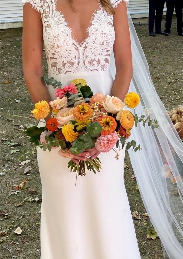 Summer Bridal Bouquet with Eucalyptus