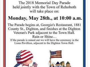 MEMORIAL DAY PARADE INFORMATION