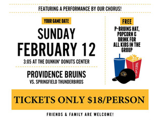 Last Chance for Providence Bruins Tix!
