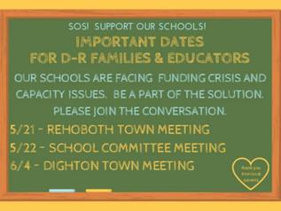 IMPORTANT DATES FOR DIGHTON FAMILIES & EDUCATORS