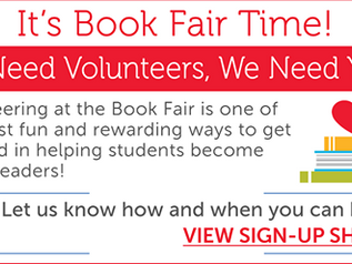 VOLUNTEERS NEEDED FOR BOOK FAIR!
