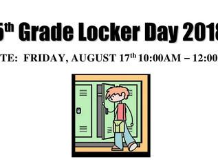 5th Grade Locker Day 2018