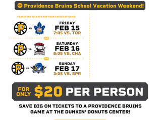 P-BRUINS TICKET DEAL FOR FEBRUARY VACATION!