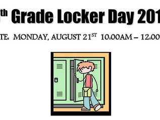 5th Grade Locker Day