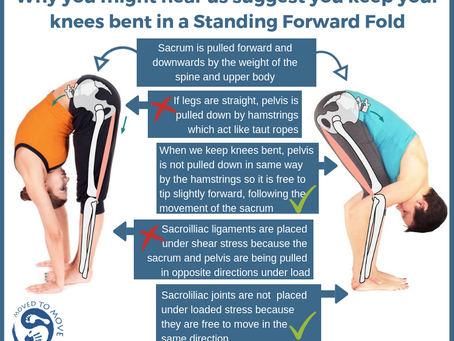 Should I have straight legs or bent knees when I do a Forward Fold?