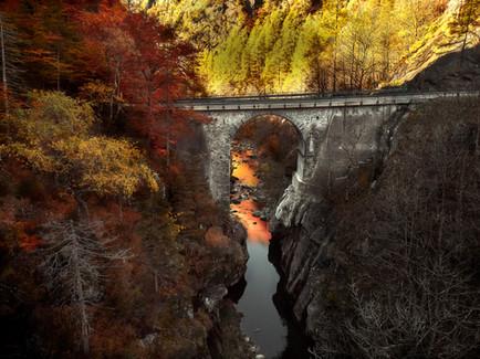 Viadukt bei Fusio