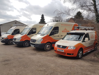 Trackers fitted to the Meridian vans