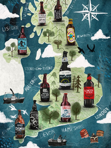Illustrated Beer Map