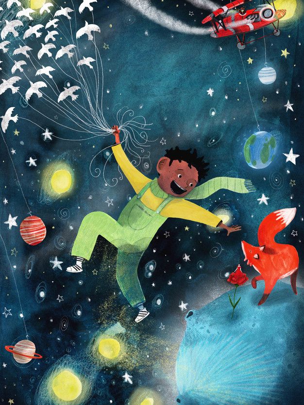 The Little Prince Poster Design. Commisioned for The Omnibus Theatre. Christmas 2019