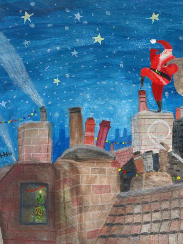Santa on the Roof