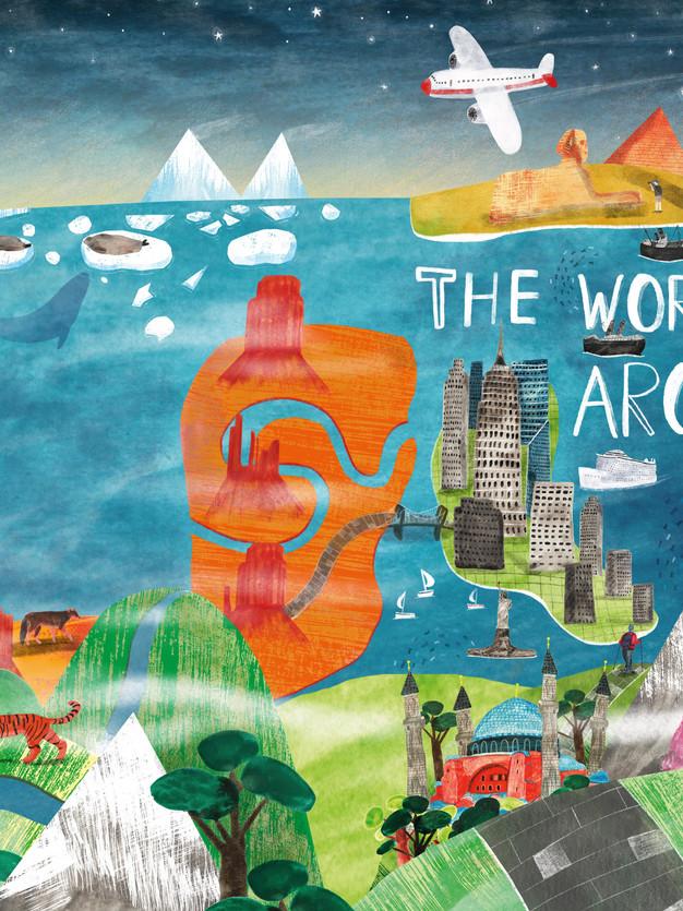 The World Around Me Cover Design