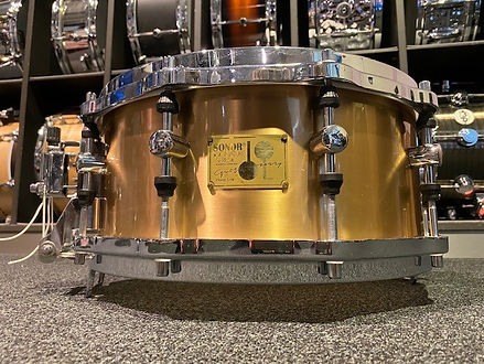 sonor horst link snare 14 x 6 cast bronz