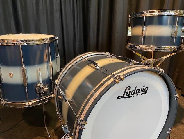 ludwig club date vintage usa blue silver