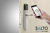 Salto Bluetooth lock on door