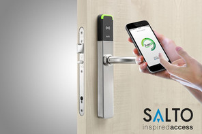 Salto Bluetooth lock on door