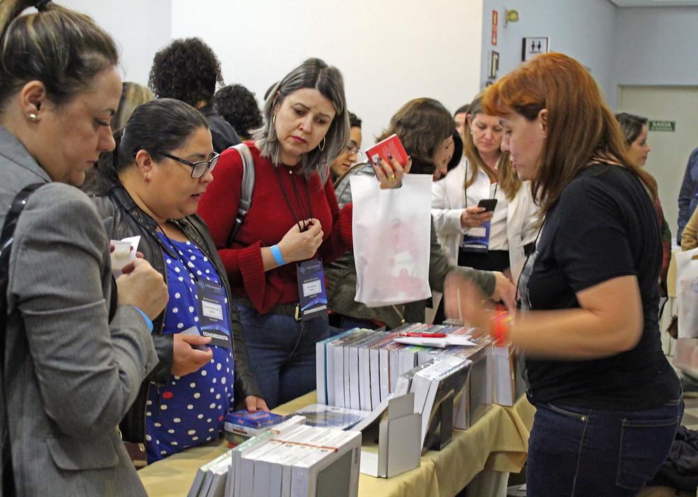 Além das palestras, o evento contou também com expositores. Foto: Assessoria.