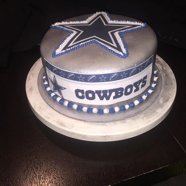 Football cowboys fan requested this cake for Sunday game