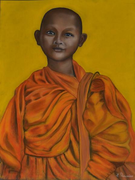 Cheminement d'un jeune boudha